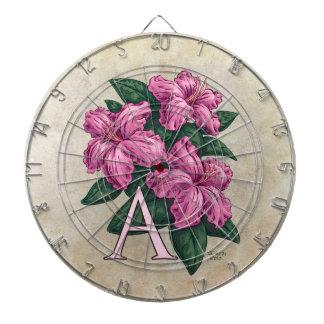 Jeu De Fléchettes A pour l'art de monogramme de fleur d'azalée