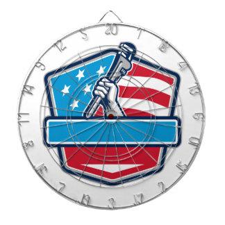 Jeu De Fléchettes Bouclier de drapeau des Etats-Unis de clé à tube