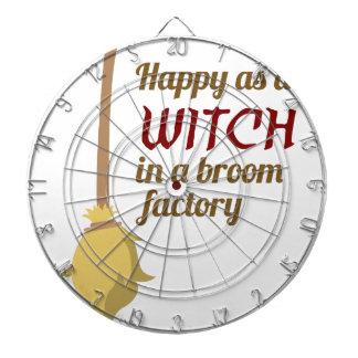 Jeu De Fléchettes Conception heureuse de Halloween d'usine de balai