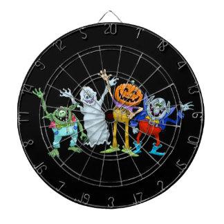 Jeu De Fléchettes Créatures de bande dessinée de Halloween ondulant,