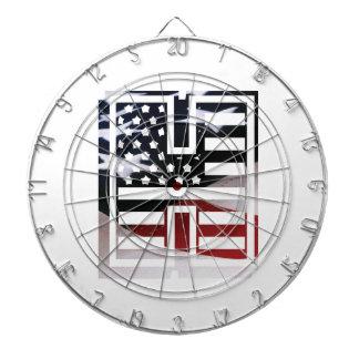 Jeu De Fléchettes Drapeau patriotique des Etats-Unis d'initiale de