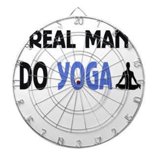 Jeu De Fléchettes le vrai homme font le yoga