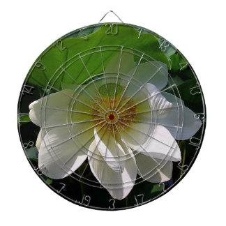 Jeu De Fléchettes Panneau de dard avec la fleur de Lotus blanc