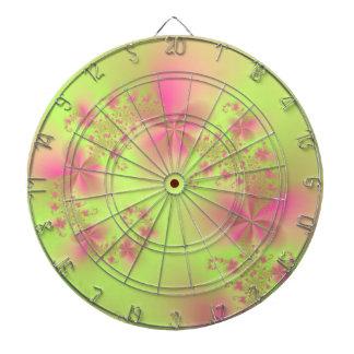 Jeu De Fléchettes Spirale florale de vert et de rose