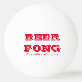 Jeu de puanteur de bière avec les boules propres 1 balle tennis de table