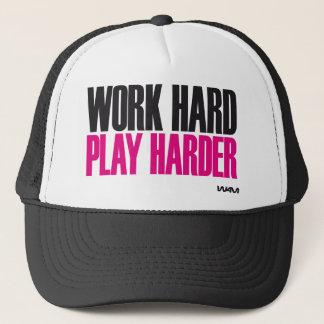jeu dur de travail plus dur casquette