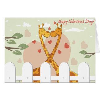 Jeune carte de Valentine d'amants