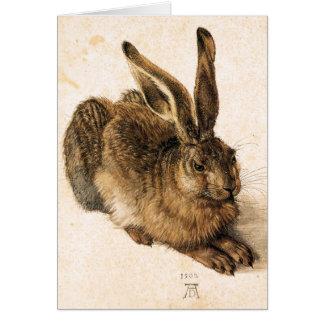 Jeune carte de voeux de lièvres d'Albrecht Durer