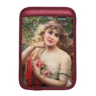 Jeune Madame avec des roses par Emile Vernon Housses Pour iPad Mini
