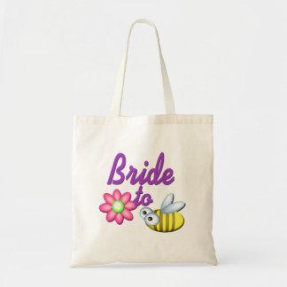 Jeune mariée à l'abeille sac en toile budget
