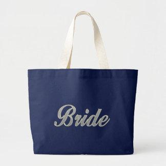 Jeune mariée avec bling grand sac