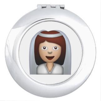 Jeune mariée avec la femme de voile - Emoji