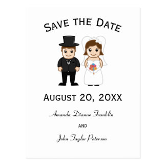 Jeune mariée et marié - sauvez la carte postale de