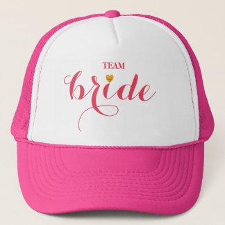 Jeune mariée personnalisée d'équipe de casquette