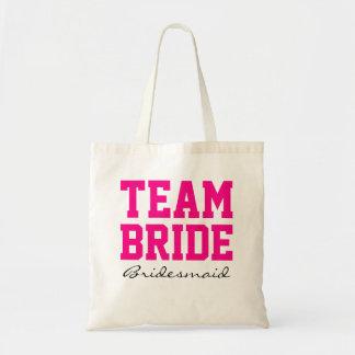 Jeune mariée pink2 chaud personnalisé par sac en toile budget