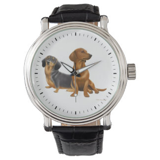 Jeune montre de chiens de teckel montres bracelet