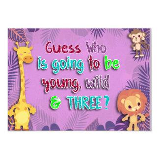 Jeune, sauvage, et trois, invitation