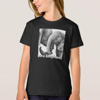 Jeune T-shirt d'enfants d'éléphants africains