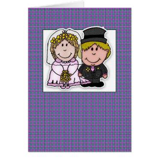 jeunes mariés d'anniversaire de mariage carte de vœux