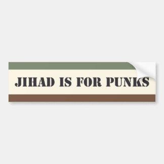 Jihad est pour des punks autocollant de voiture