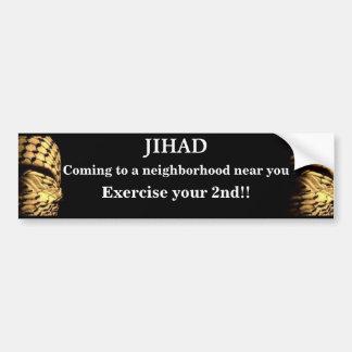 Jihad venant à un voisinage près de vous autocollant de voiture