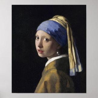 Johannes Vermeer - fille avec une boucle d'oreille