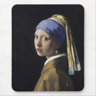 Johannes Vermeer - fille avec une boucle d'oreille Tapis De Souris