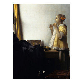 Johannes Vermeer, jeune femme avec le collier de Carte Postale