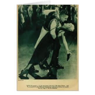 John Gilbert Mae Murray 1925 cartes vintages de