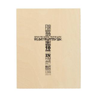 John het Art. van de Muur van het 3:16 Hout Afdruk