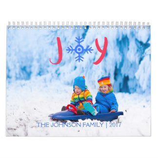 Calendriers Joie | de flocon de neige calendrier de 2017