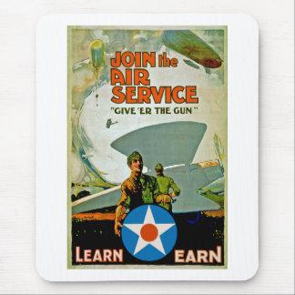 Joignez le ~ de service aérien donnent 'heu l'arme tapis de souris