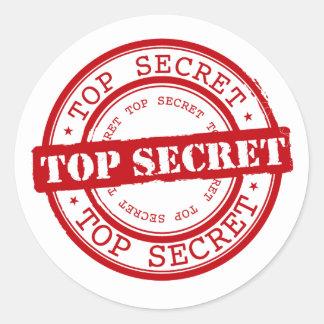Joint extrêmement secret classique sticker rond