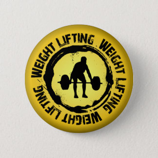 Joint intéressant d'haltérophilie badge rond 5 cm