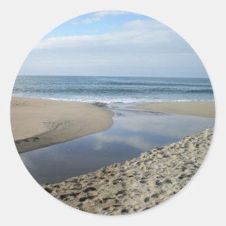 Joints/autocollants de la Californie de plage de Sticker Rond