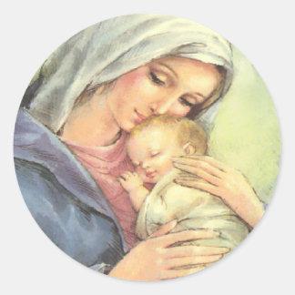 Joints d'autocollants de foi de Jésus de bébé de Sticker Rond