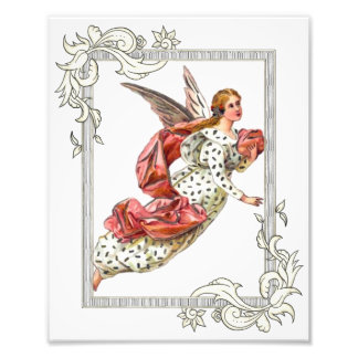 Joli ange avec le ruban rose impression photo