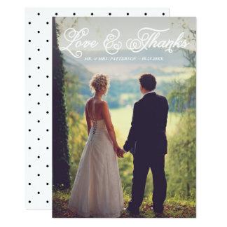 Joli carte de remerciements blanc de photo de carton d'invitation  12,7 cm x 17,78 cm
