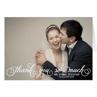 Joli carte de remerciements de mariage de