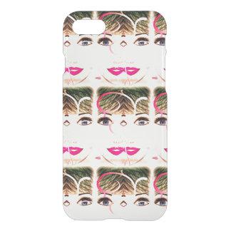 Joli coque iphone noir, blanc et rose de fille