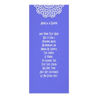 Joli motif de dentelle blanc turquoise Peronalized Double Carte Personnalisée