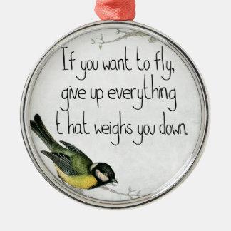 Joli ornement d'oiseau