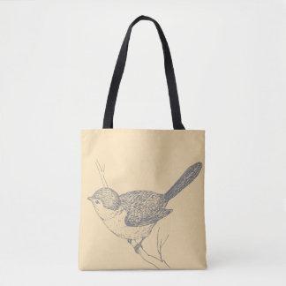 Joli sac fourre-tout à oiseau