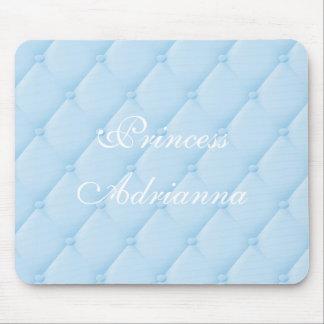 Joli tapis de souris de princesse piqué par bleu