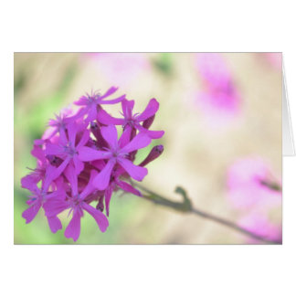 Jolie carte de note de fleur