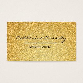Jolie étincelle de scintillement d'or, maquilleur cartes de visite