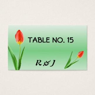 Jolies cartes de nombre de Tableau de tulipes pour
