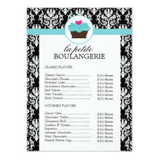 Jolies listes des prix de boulangerie de damassé carton d'invitation  13,97 cm x 19,05 cm