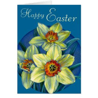 """Carte Jonquilles carte jaune et bleue de """"Joyeuses"""