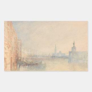 Joseph Mallord William Turner - Venise, la bouche Sticker Rectangulaire